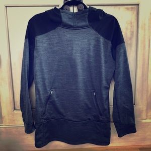 The north face black and gray hoodie